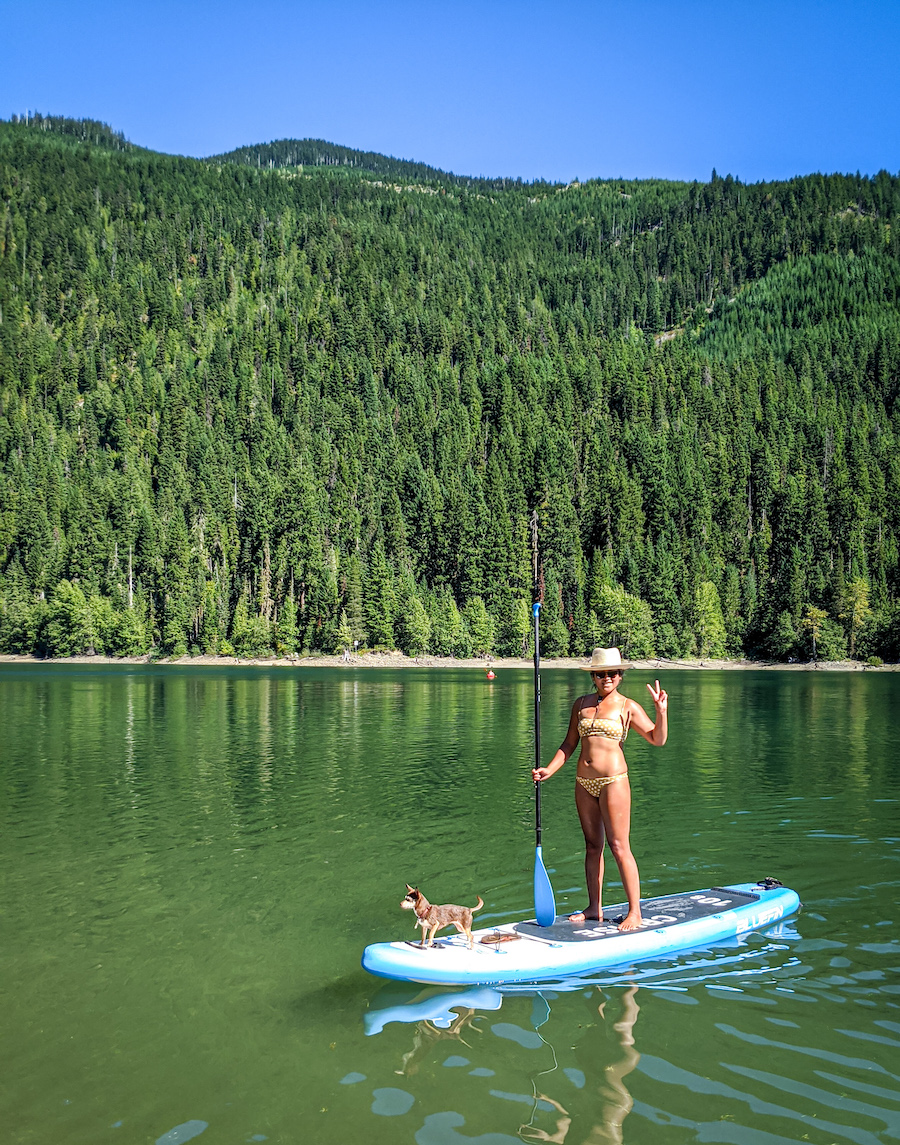 schimiggy on bluefinsups stand up paddleboard