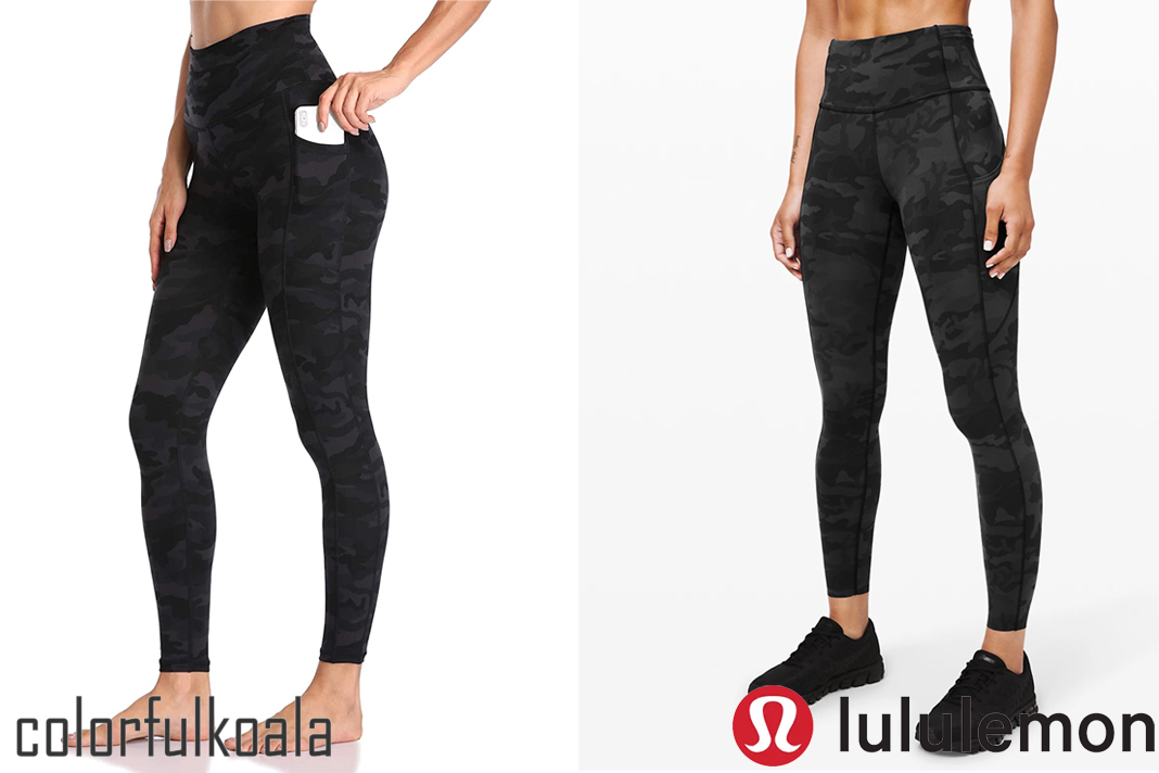 colorfulkoala vs lululemon fast and free tights dupe