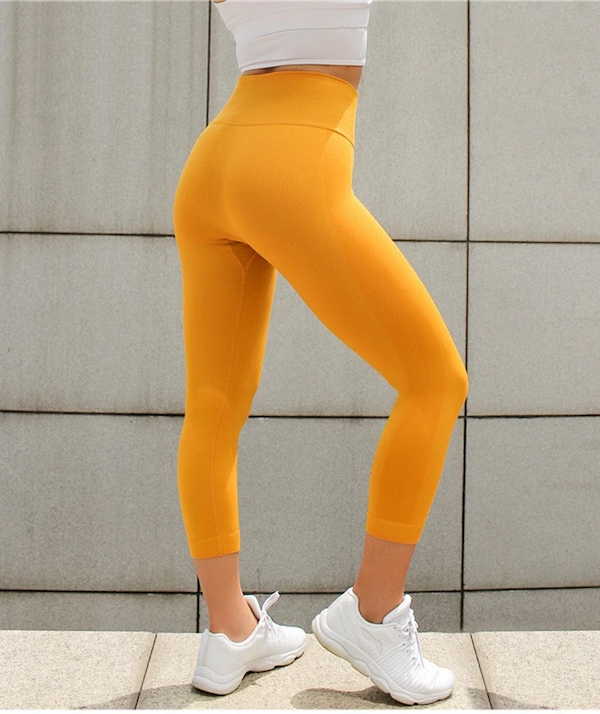 Astoria Activewear 3:4 seamless leggings sunshine yellow