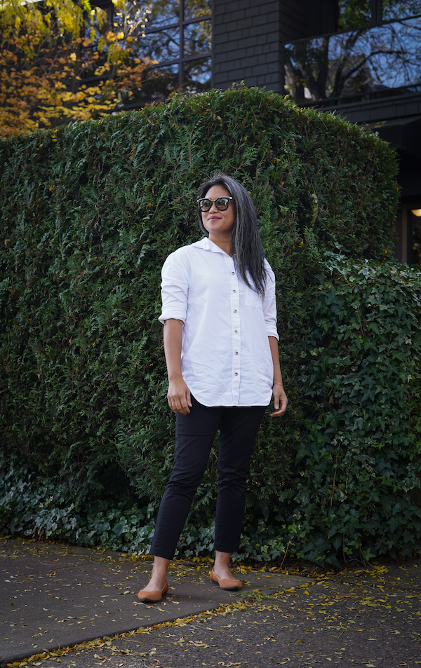 KOTN Review Oversized Oxford Shirt Slim Trousers rolled sleeves