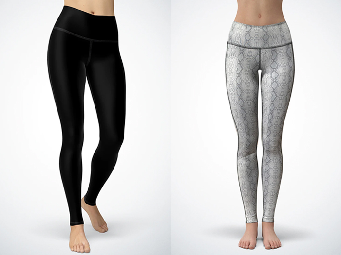 Quench Activewear Silver Snake Reversible Leggings