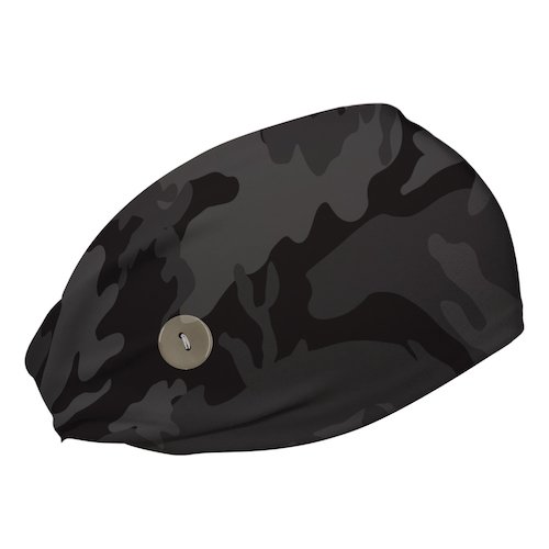 Bani Bands button headband in black camo