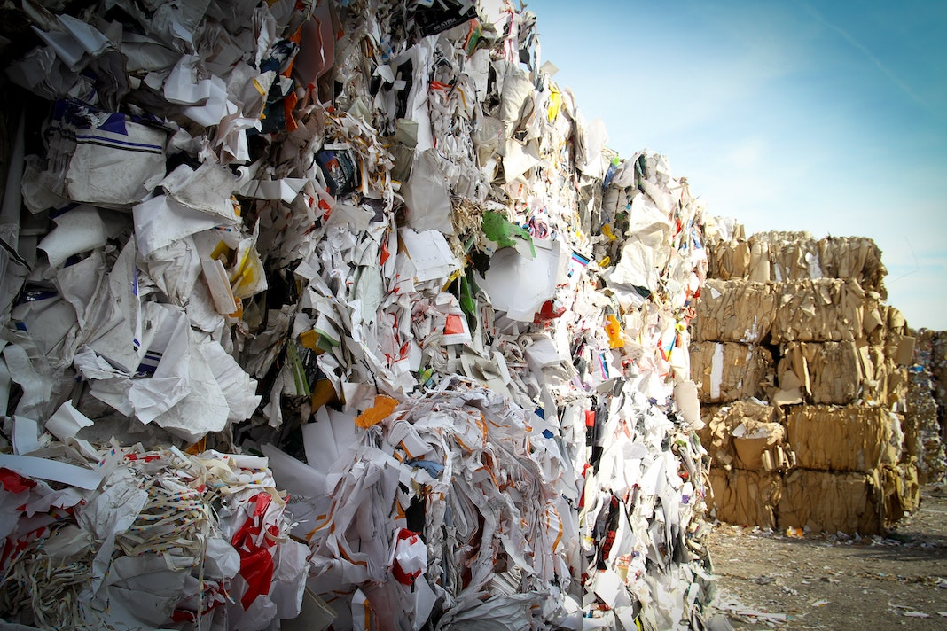 landfill with trash and waste