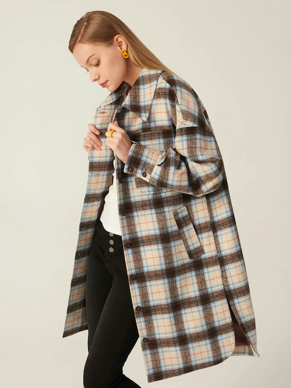 shein plaid shirt jacket shacket