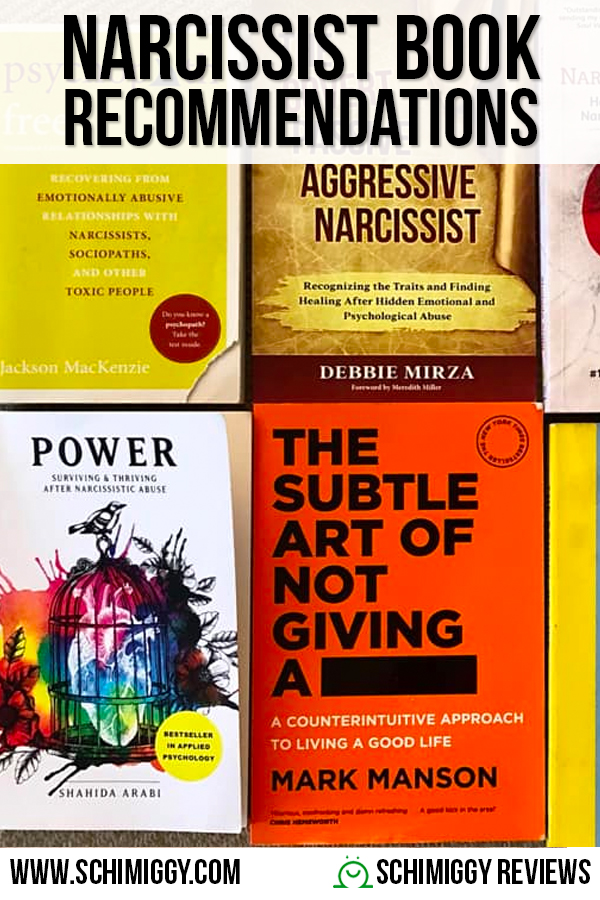 Narcissist Book Recommendations Schimiggy Reviews