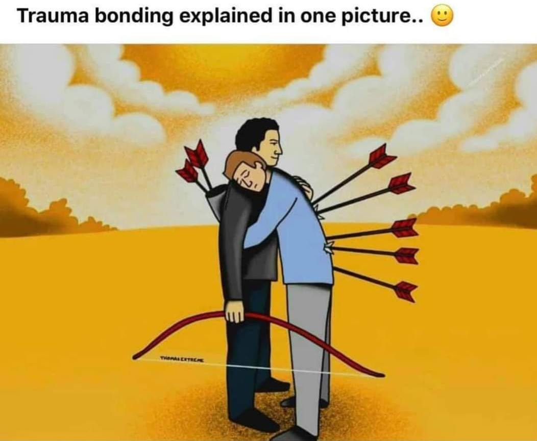 trauma bonding explained in on picture