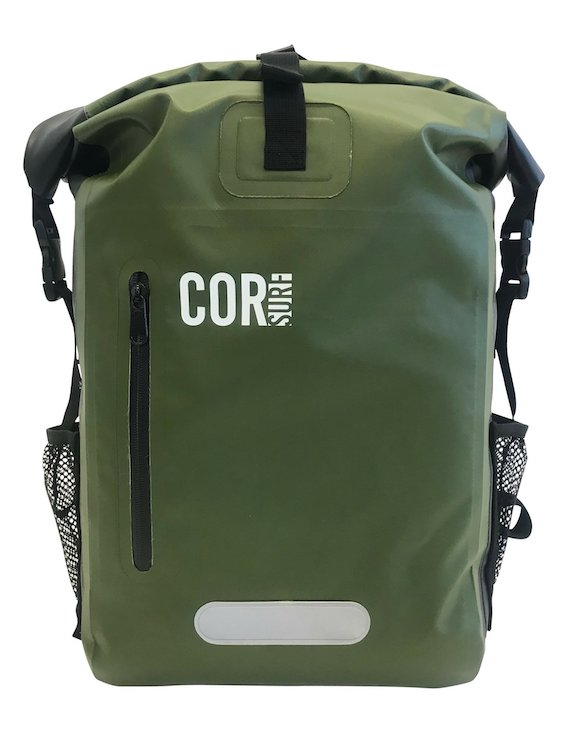 Cor Surf 25L waterproof dry backpack olive green
