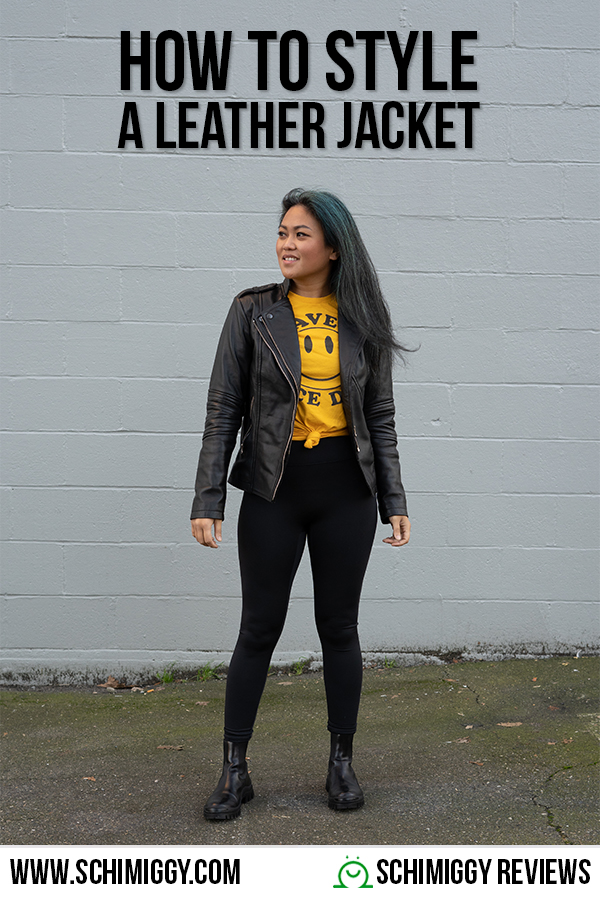 how to style a leather jacket Schimiggy