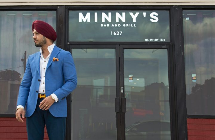 men's fashion outfit with turban