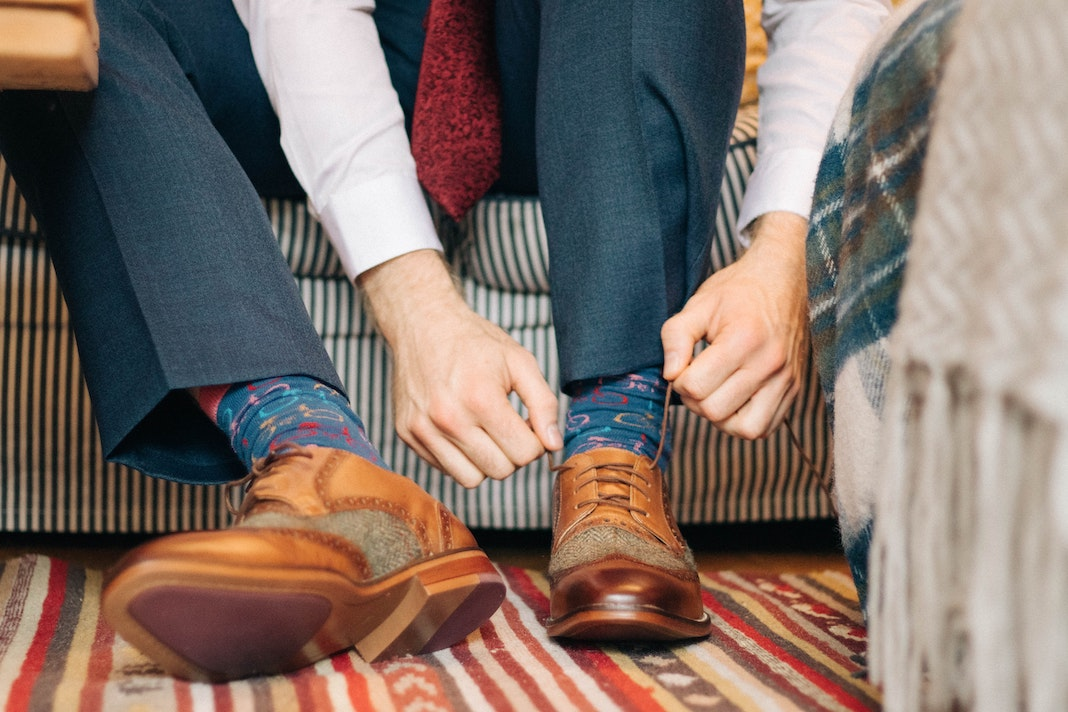 men's sock and dress shoes