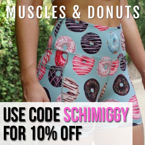 Muscles and Donuts coupon code SCHIMIGGY