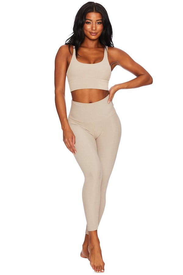 Beach Riot Ayla Leggings Taupe Nude
