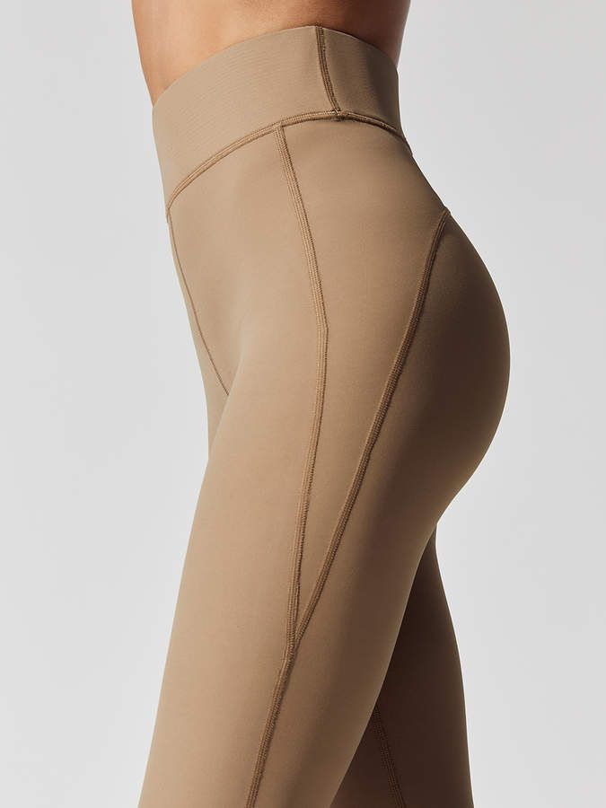Carbon38 Seamed Legging in Latte nude