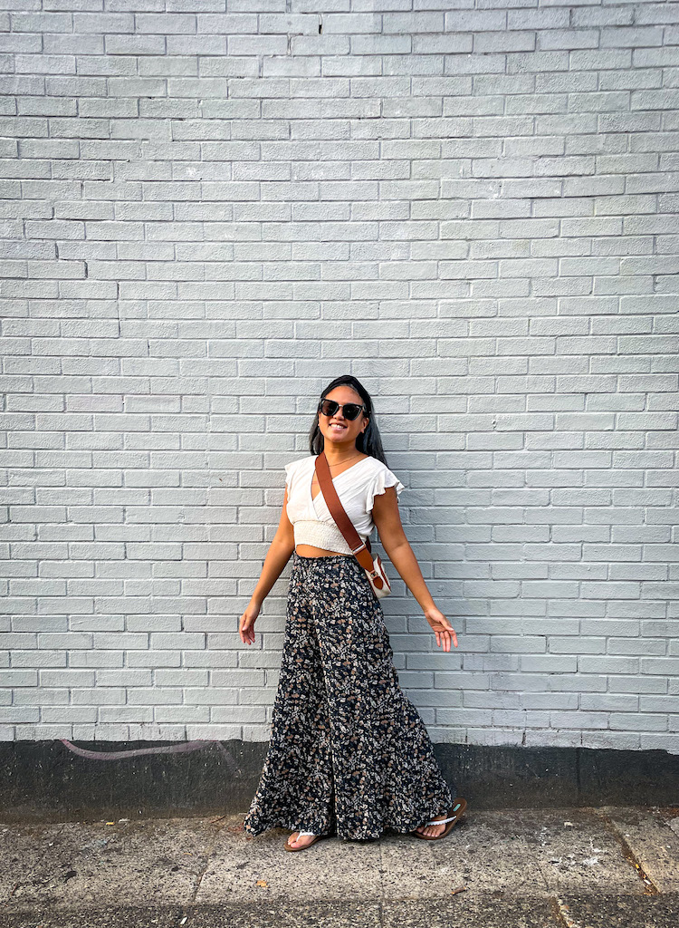 Sozy review Kaia top and Harper wide leg pant