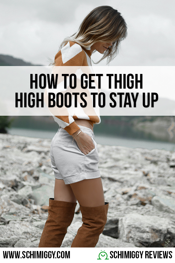 how to get thigh high boots to stay up
