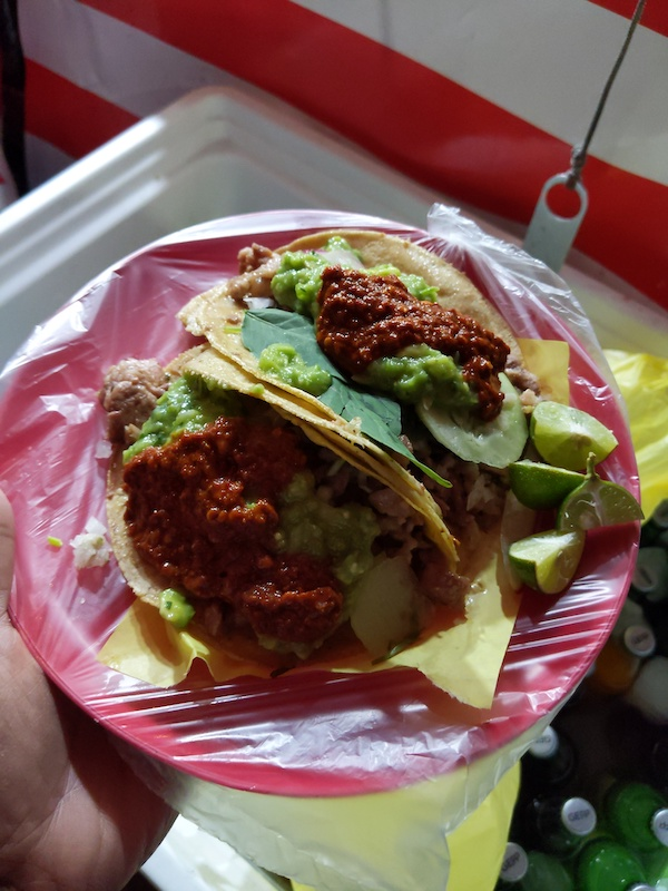 suadero tacos from taqueria el enmascarado jr in mexico city near the arena