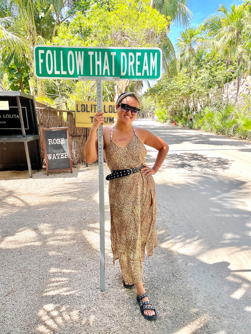 where to find the follow that dream sign in tulum mexico