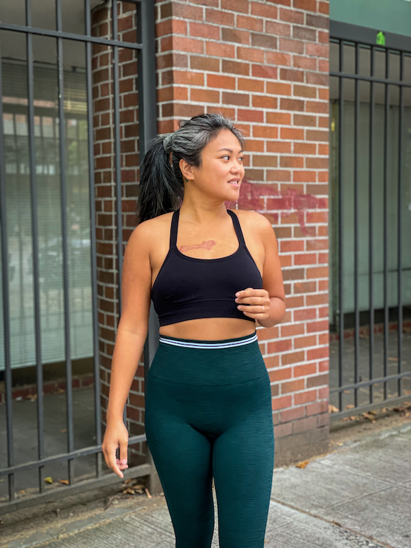 LNDR Review Seamless Chisel Leggings look to side