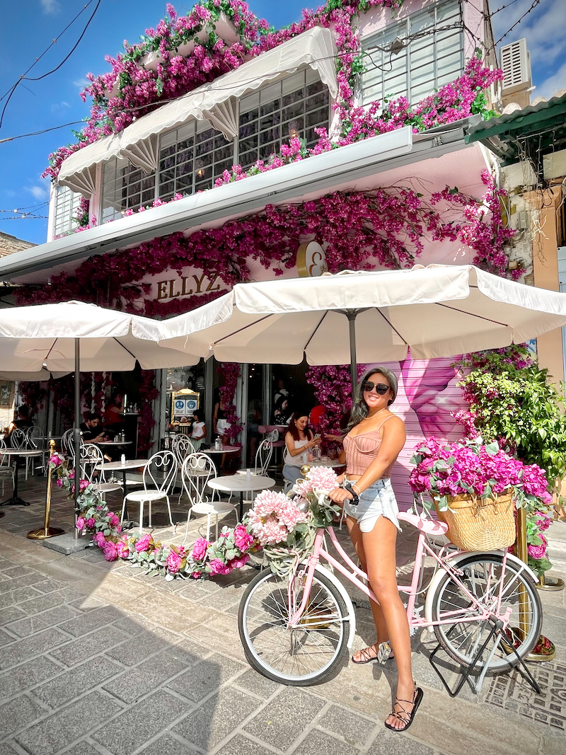 pink outfit for greece athens